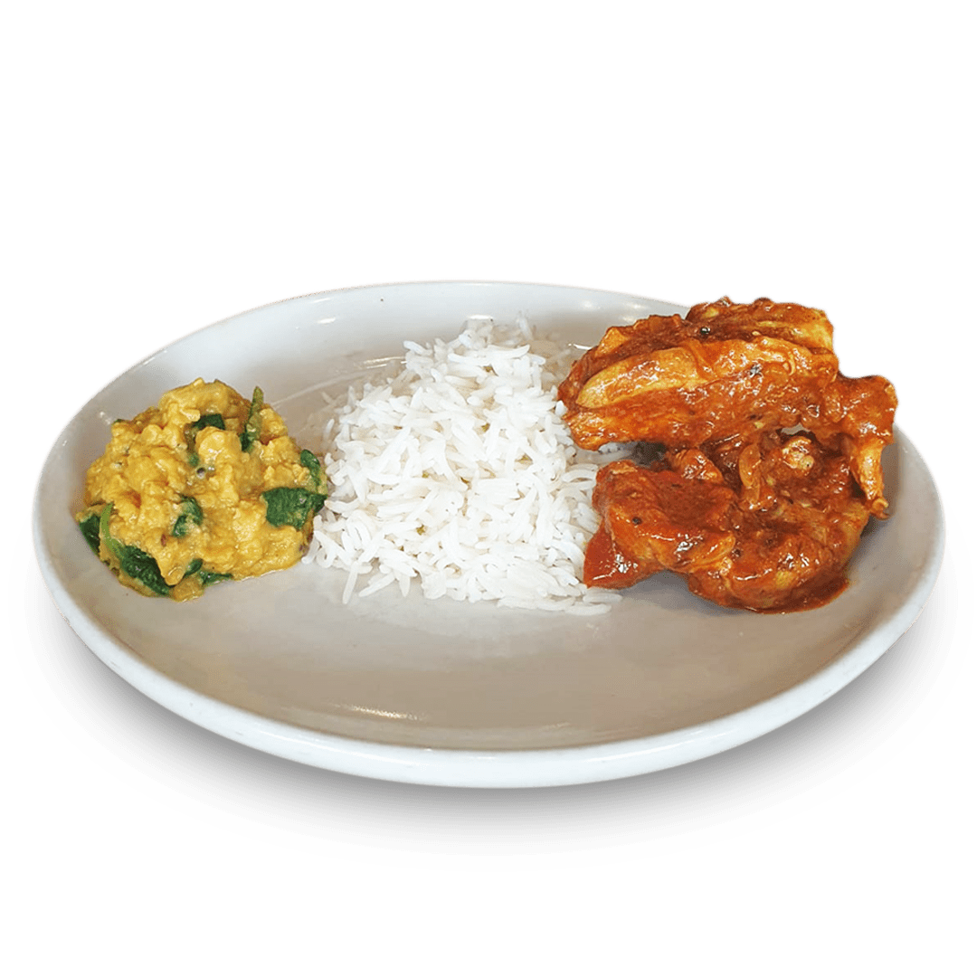 Chicken Curry with Lentil, Rice