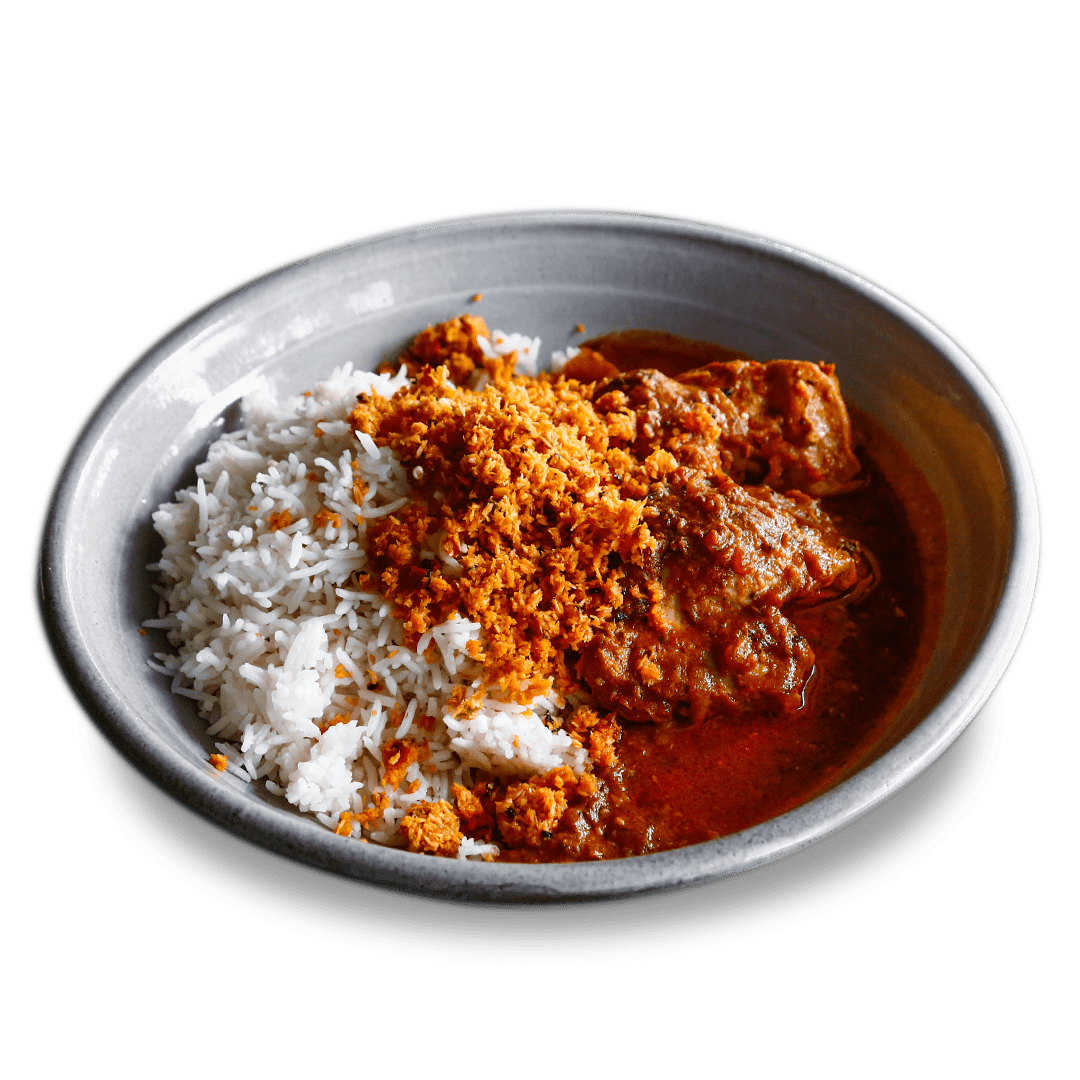 Chicken Curry with Sambol & Rice