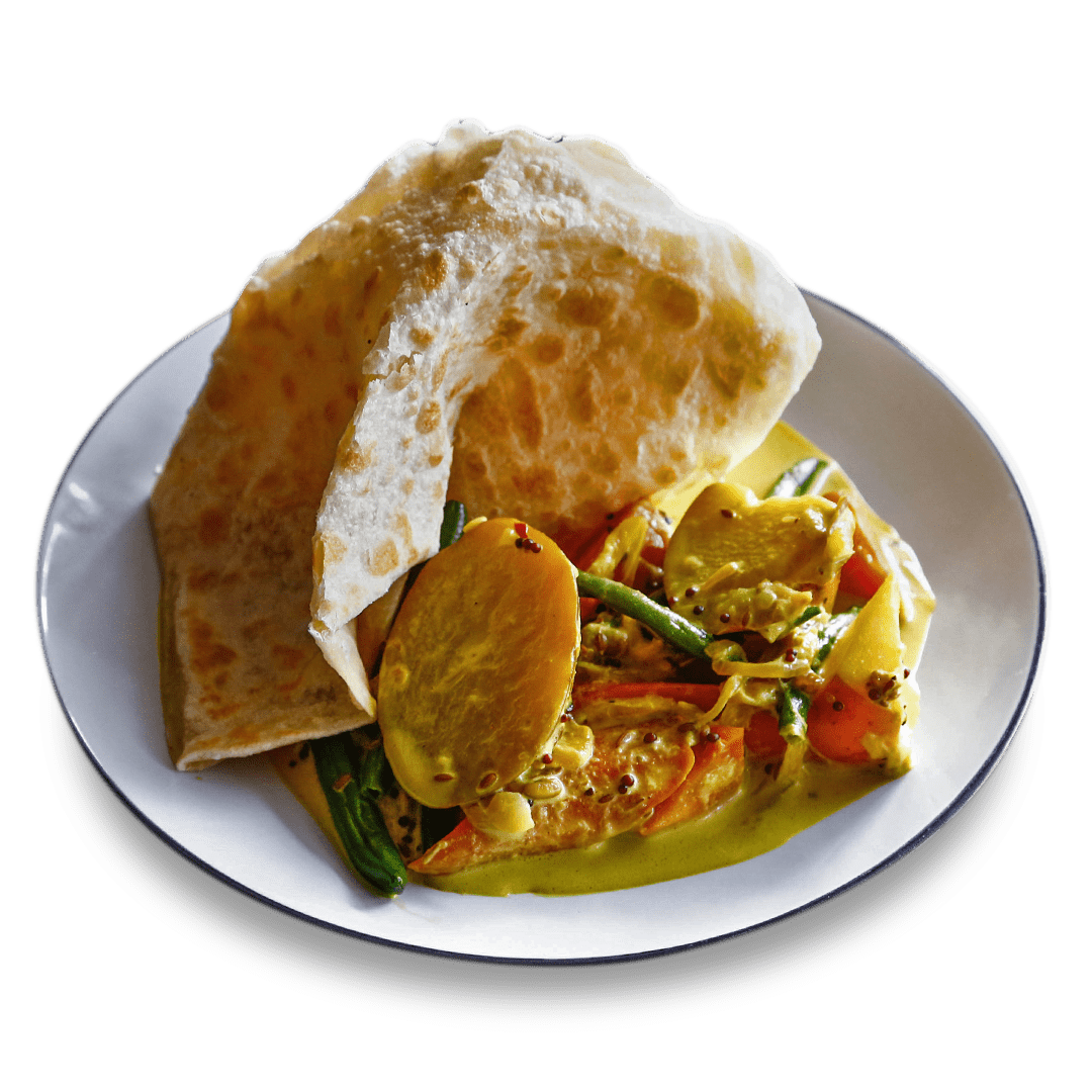 Coconut Vegetable Curry with Roti