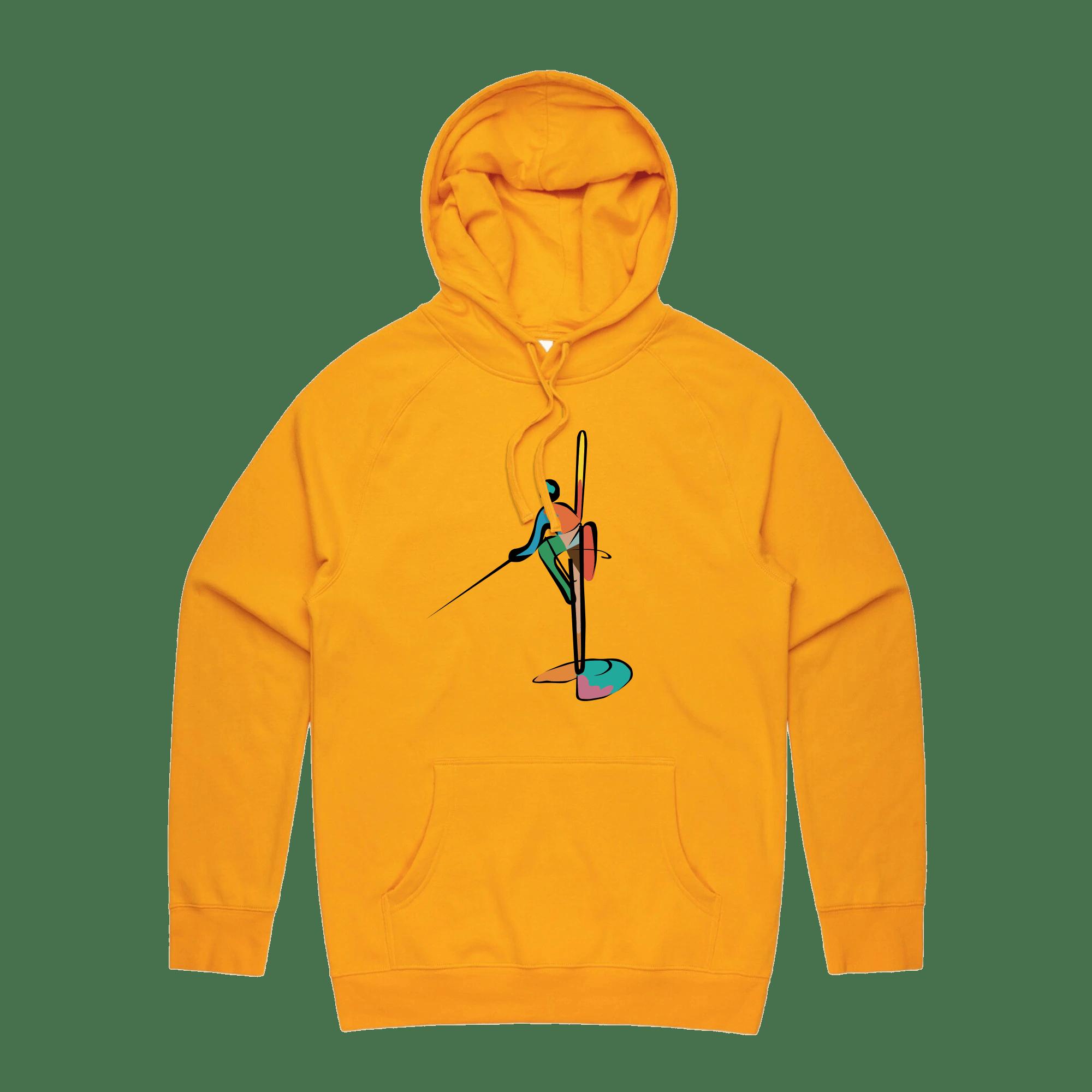 Colourful Fisherman Hoodie - GOLD