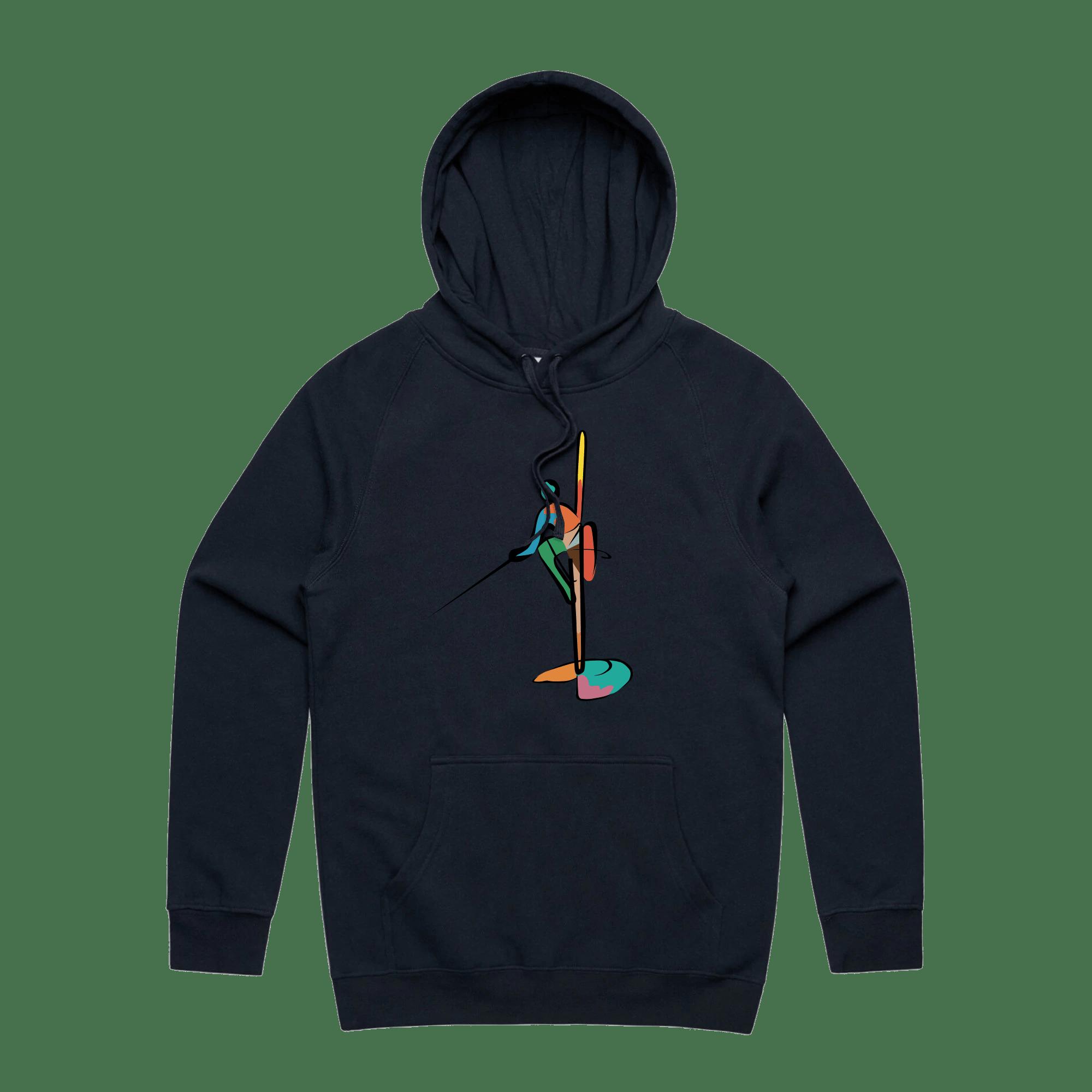 Colourful Fisherman Hoodie - NAVY