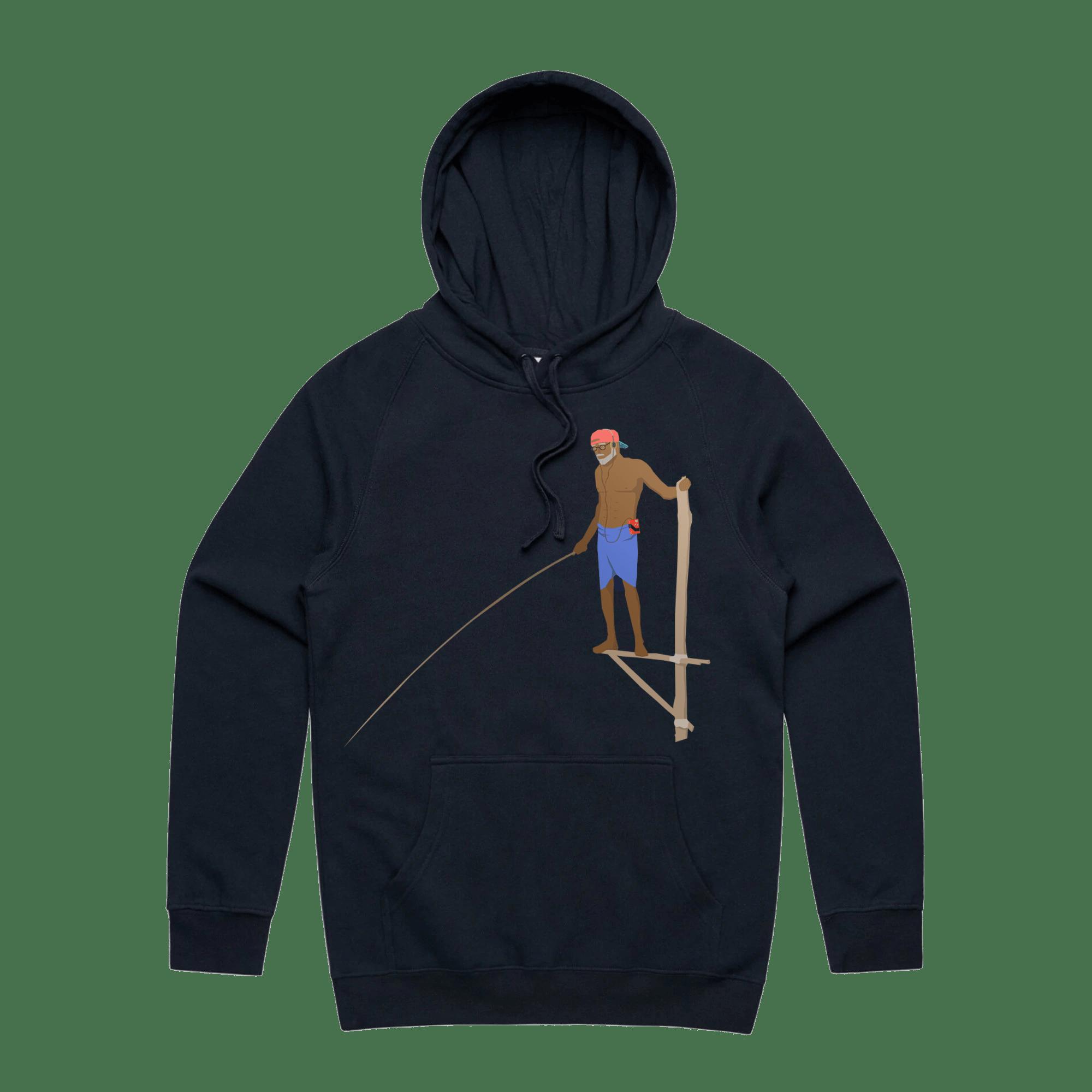RETRO FISHERMAN Hoodie - NAVY