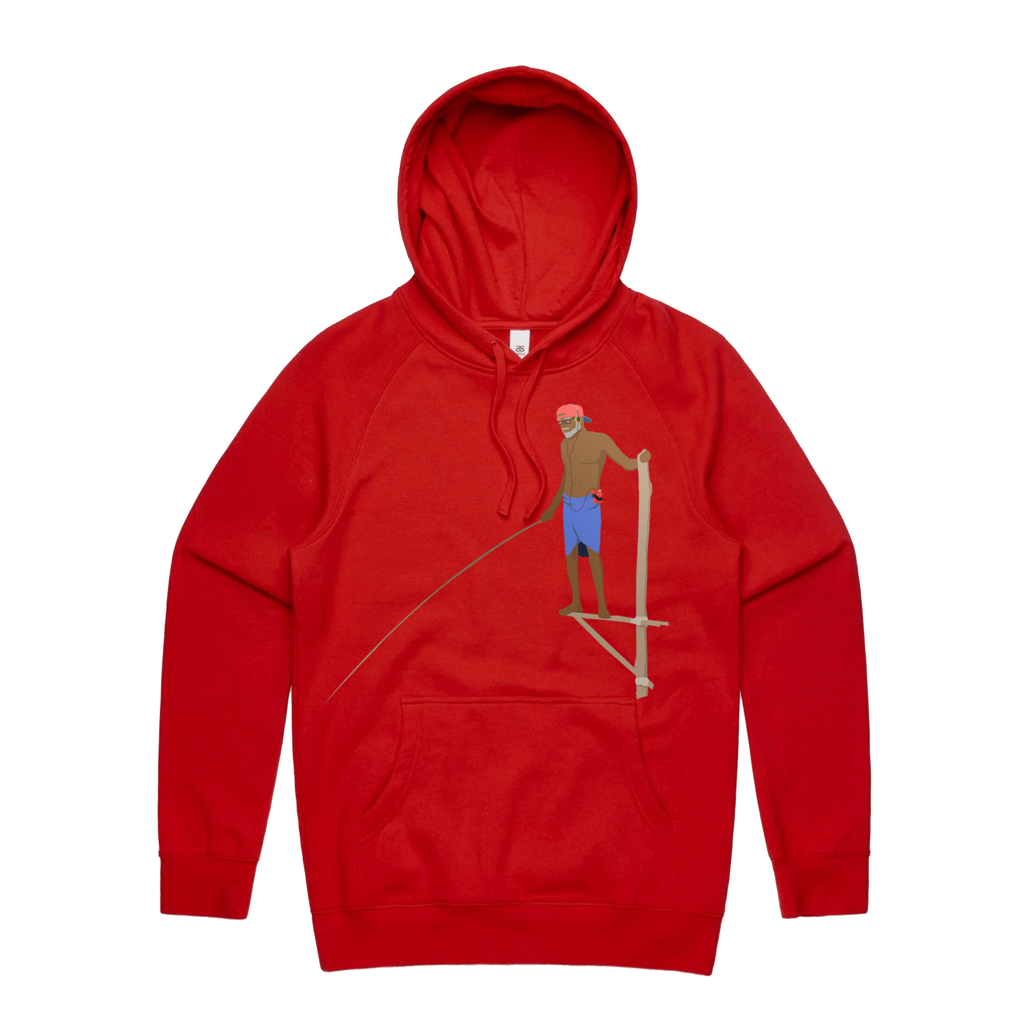 RETRO FISHERMAN Hoodie - RED